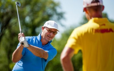 Visit of professional golf coach Walter Viti