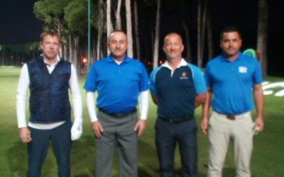 President of the Golf Association of Moldova played with the Minister of Foreign Affairs of Turkey